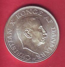 R* DENMARK 2 KRONER SILVER 1937 KING CHRISTIAN X UNC DETAILS