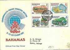 MAPS ARMS AGRICULTURE - FDC COVER: BAHAMAS 1981