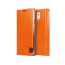 [Orange] ZENUS Signature Tag Leather Diary Case for Samsung Galaxy Note 3 III