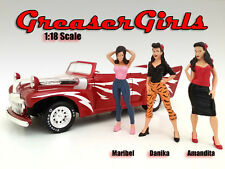 GREASER GIRLS 3 PIECE FIGURE SET 1:18 SCALE AMERICAN DIORAMA 23808/23809/23810