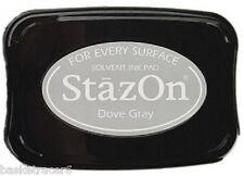 StazOn Solvent Ink Pad DOVE GRAY SZ-33 Tsukineko Brand New!