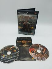 God of War 2 Playstation 2 PS2 Video Game Complete Two Disc Manual Black Label