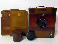 LENINGRAD 13x18 USSR Soviet Old Road Wooden Camera + Lens Industar-51 f4,5/21cm
