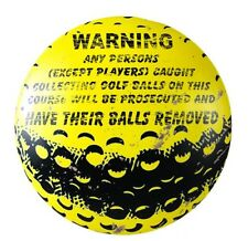 PERSONS WILL HAVE THEIR BALLS REMOVED FUNNY GOLF SIGN Tee Round Home Decor NEW