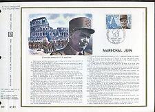 DOCUMENT CEF PREMIER JOUR  1970  TIMBRE N° 1630 MARECHAL JUIN CHAPELLE INVALIDES
