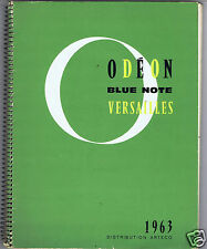 CATALOGUE GENERAL DISQUES ODEON BLUE NOTE VERSAILLES 1963