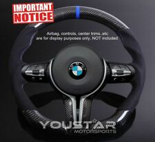 DTM Style Alcantara CARBON Blue Stripe Steering Wheel for BMW M2 M3 M4 X5M X6M