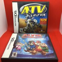Nintendo DS Game - ATV Wild Ride + Alvin Chipmunks - 2 Games - Complete & Tested