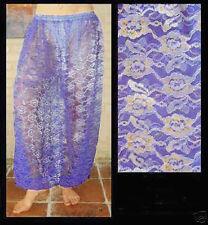 Harem Pants Belly Dance Lace Violet w/ Silver & Gold Floral Pattern