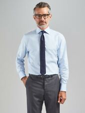 """WORLD £130 Thomas Pink SkyBlue Plain Classic-Fit Tailored Formal Shirt 14.5"""" 37"""
