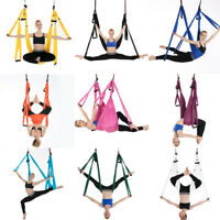 US Large Solid Aerial Yoga Swing Sling Hammock Hanging Inversion Trapeze+Bag NEW