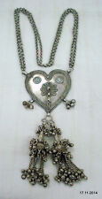 necklace heart love traditional jewelry vintage antique tribal old silver