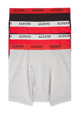 $65 Alfani Underwear Mens Black Red Classic Cotton Boxer Briefs 4-Pack Size S
