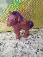 G1 My Little Pony Twinkler Pony Sparkle Glitter Pink Purple Hair Vintage MLP