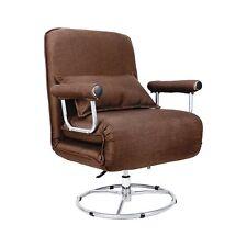 Single Folding Sofa Bed Chair Modern Fabric Sleep Function Holder W/ Pillow