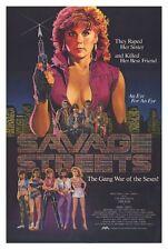 SAVAGE STREETS Movie POSTER 27x40 Linda Blair John Vernon Sal Landi Robert Dryer