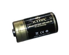 Xtar cr123a 16340 – 1400mah, 3v, batteria al litio