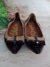 "Sam Edelman 7.5 M ""Hera"" Point Toe Flats Spike Bow Black Punk Slippers LEATHER"