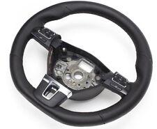 aplati volant en cuir VW PASSAT B7 volant multifonctions 3c8419091 Noir