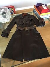 Coach coat leather-silk lining designer excellent condition.
