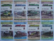1983 ST VINCENT Set #1 Train Locomotive Railway Stamps (Leaders of the World)