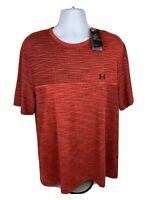 Under Armour Vanish Seamless Short Sleeve Red Pullover Training Shirt Sz 2XL