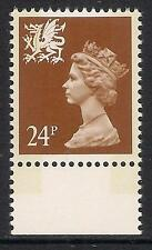 Wales 1992 W60 24p litho 2 bands booklet stamp MNH