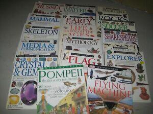 18 books/ all hardback/ Dorling Kindersley/ science/history/ all ages