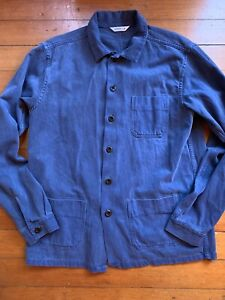 3Sixteen Shop Jacket French Blue Back Satin XL Made In Usa
