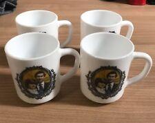 Set Of Four 1981 Princess Diana and Prince Charles Wedding Mugs, Arcopal Pyrex