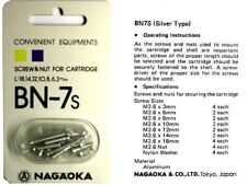 Nagaoka BN-7 Silver Cartridge Mounting Screw Kit