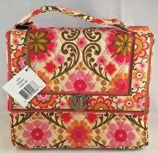 NWT Vera Bradley Julia Folkloric Handbag Purse Pink Orange Tan Floral