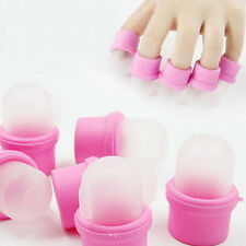 10pcs New Hot Portable Soak Finger Tips Nail Polish Remover UV Gel Cap Set