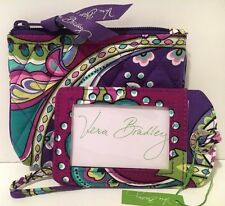 Vera Bradley HEATHER JEWELRY CASE & LUGGAGE TAG Cosmetic Travel Bag NWT