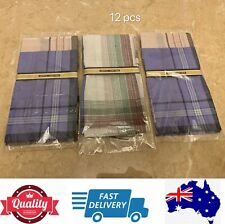 12 pcs Men's Pocket Square Hanky Handkerchief 100% Cotton Special, AU Stock