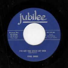 POPCORN/R & B-ETHEL ENNIS-I'VE GOT YOU UNDER MY SKIN/OFF SHORE-JUBILEE 5236