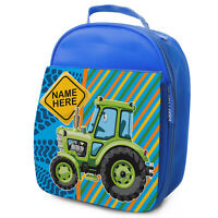 TRACTOR Lunch Bag Farming School Childrens Insulated Lunchbox Personalised KS232