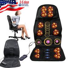 8 Motor Massage Car Seat Cushion Back Relief Chair Pad Heated Lumbar Massager