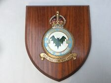 More details for vintage hand painted royal air force  ix bomber squadron wooden plaque/shield