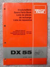 Deutz Fahr Schlepper DX55 Ersatzteilkatalog