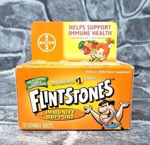 Flintstones Kid's Multivitamin w/ Immunity Support 70 Chewables EXP 12/21 - NEW