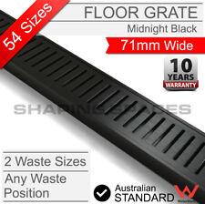 300 - 5600mm LAUXES MIDNIGHT Strip Floor Shower Grate Waste Drain Bathroom Black