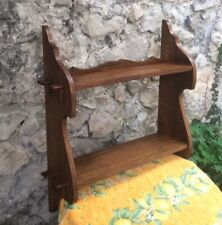 Vintage Swiss French Wall Wood shelf Chalet Alpine Wooden Peg Construction