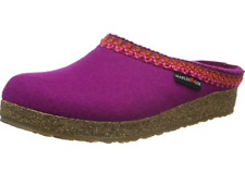 HAFLINGER Grizzly Francisco Zig Zag PINK arch support wool Slipper US 8  EU 39