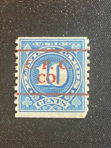 OLD USED U.S. REVENUE STAMP SC#RF19  PLAYING CARDS TAX STAMP