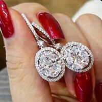 A Pair/set Gorgeous 925 Silver Drop Earrings for Women White Sapphire Jewelry