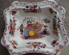 Vintage mason's patent ironstone 'fruit basket' rectangular bowl