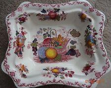 Vintage mason's patent ironstone 'fruit basket' rectangular bowl
