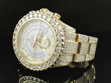 Amazing Mens Rolex Yatchmaster 2 II 18k Yellow Gold Diamond Watch with 36 Ct
