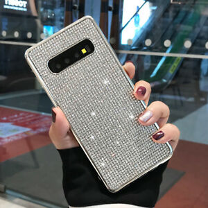 For Samsung Galaxy S10 Plus S8 Plus S9 Glitter Diamond Bling Plating Case Cover